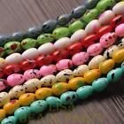 New 20pcs 11X8mm Teardrop Colorized Dots Loose Glass Spacer Beads Random Mixed