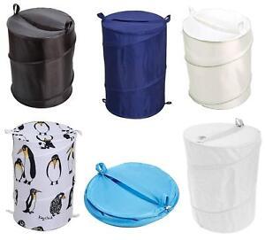 Pop Up Laundry Hamper Popup Basket Bin Washing Clothes Storage Bag Easy Store