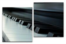 60x100 cm//8564 Bild auf Leinwand Alte Villa Klavier