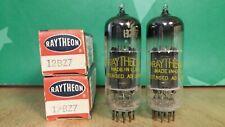 Pair GE (Raytheon lbl) 12BZ7 NOS NIB Black Plate Vacuum Tubes - 10% matched