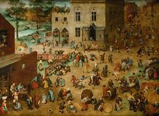 Les Jeux d'enfants (Pieter Brueghel l'Ancien) - Poster métal - art mural