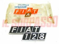 Print Initials Bonnet Rear Fiat 128 For Sedan Rally Aluminum Original