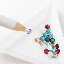 10 x Triangle/Round Rhinestones Beads Crystal Nail Art Sorting Trays Plastic New
