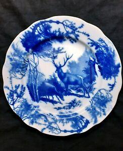 Dulevo USSR porcelain blue & white Elk plate