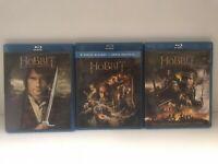 Trilogia Lo Hobbit 1+2+3 (3 Bluray) Usato