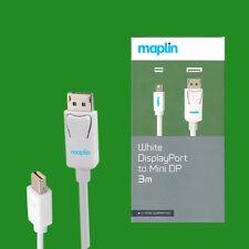 Maplin DisplayPort a Mini DP / THUNDERBOLT 3m CABLE PARA PC,portátiles, TV/