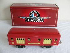 Lionel Train Classics Standard Gauge Red 323 Baggage Passenger Car 6-13400 EX
