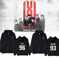 2019 MONSTA X WORLD TOUR 'WE ARE HERE' Sweatershirt Cap Zip Hoodie Shownu I.M
