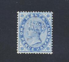 MALTA 1885, 2½d DULL BLUE, VF LH OG SG#24 CAT£65 (SEE BELOW)
