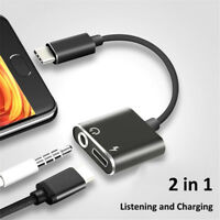 Type-C To 3.5mm Jack AUX Audio Headphone USB C Adapter And Charger Cable 2 in1