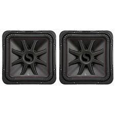 Kicker L7R 12 Inch 1200W Max 4 Ohm DVC Square Car Audio Sub, Black (2 Pack)