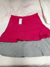2 pairs The Childrens Place Girls Skorts Size 10/12 Hot Pink Gray