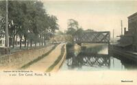 C-1905 Erie Canal Rome New York Rotograph undivided postcard 9571 hand colored
