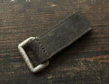 Original WWII / WW2 Relic German army Leather Belt Loop Strap D-Ring ( 1939 )