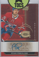 Ryan Poehling 2019-20 Trilogy Rookie Renditions Gold Parallel Auto SP Canadiens