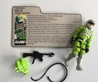 GI Joe vintage figure 1986 Sci-Fi complete with file card