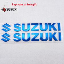 For SUZUKI Stickers 3D Fuel Gas Tank Fairing Pad Emblem Decal Sticker RU Blue