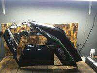 13-19 KAWASAKI NINJA ZX14R ZX14 BLACK Right MID UPPER SIDE FAIRING COWL PLASTIC