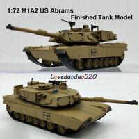 HOT Sale 1:72 Tank Model US M1A2 Abrams Main battle tank Finished Diecast Model