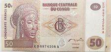 Democratic Republic Of Congo Unc Banknote Drc/Za�Re 50 Francs 2007 Africa Rdc