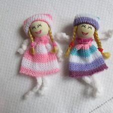 Dolls House Miniature Nursery Little Girls Fairy Girl Flower Girl Fabric & Wood