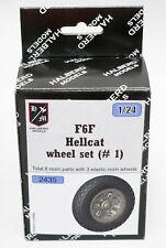 Halberd Models F6F HELLCAT wheels set #1 for Airfix 1/24 kits