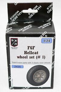 F6F HELLCAT  Halberd Models wheels set #1 for Airfix 1/24 kits
