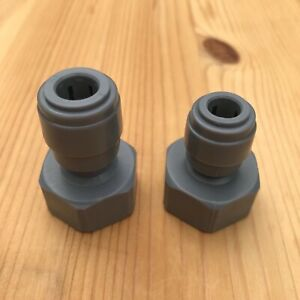 One Duotight 5/16 Push Fit to 5/8 & One 3/8 to 5/8 Threaded Keg Coupler Adapter