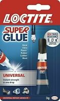 Loctite Super Glue UNIVERSAL Instant Strength Adhesive 3g Water Shock Resistant