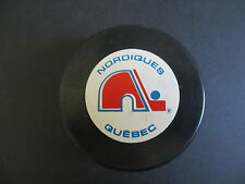 1991-92 QUEBEC NORDIQUES  OFFICIAL IN GLASGO NHL SOUVENIR PUCK