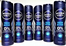 Nivea Deo Spray for men Fresh Active Deodorant 6 x 150 ml  (EUR 1,99 / 100 ml)