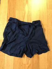 Mango Shorts Pants Dark Navy Blue 38 6 High Waist