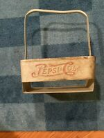 Vintage Pepsi Cola Metal Carrier Double Dot 6 Pack Bottle Holder Carrier Tote