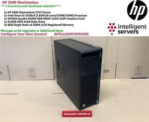 HP Z440 Workstation, Intel Xeon E5-1650 V4, 16GB DDR4, 512GB SSD, Quadro K4200