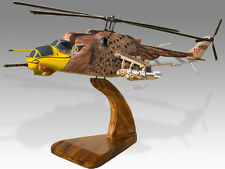 Hind MI-24 Hungarian Air Force Solid Kiln Dried Wood Desktop Helicopter Model
