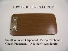 Small Clipboard Solid Black Walnut, Memo Clipboard, Check Presenter, Handcrafted