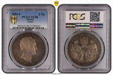 1854-F Saxony 2 Taler PCGS AU58 Death of Friedrich