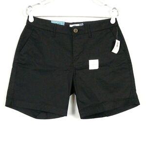 """NEW Old Navy Womens Size 4 Shorts 7"""" Black Cotton Solid"""