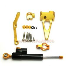 Steering Stabilizer damper and Bracket for  YAMAHA MT-09 FZ-09 14-17 15 16 GOLD