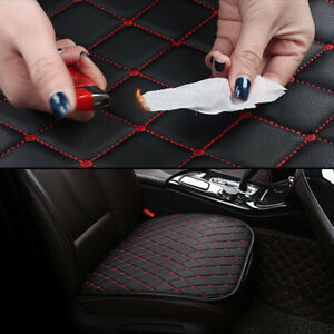 Auto Front Seat Cushion Cover Black PU&Red Line Universal Car Chair Accessories