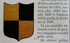 1800 ARALDICA STEMMA  NOVELLARA REGGIO NELL' EMILIA   CON TESTO