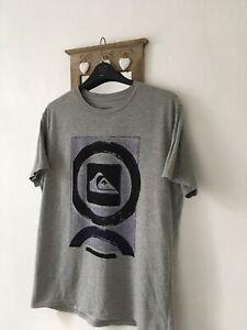 Quiksilver Size XL Grey Mens Short Sleeved T-shirt