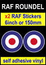 2x 6inch RAF Roundel stickers The Who Mod Target Scooter Vespa van car Decals