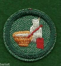 GIRL SCOUT BADGE - 1954-55 WEST COAST CUT - COOK