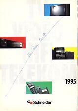 Schneider originale prospetto/catalogo TV/Video/HiFi/Telekom 1995