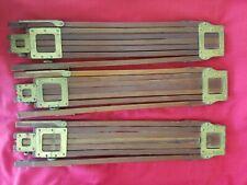 3 ANTIQUE WOOD BRASS TRIPOD FOLMER GRAFLEX TRIPOD STICKS FOR FIELD CAMERA 4X5