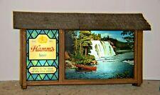 Rare Vintage Hamm's Motion Beer Sign Scene-O-Rama 1960'sCanoe & Waterfalls!