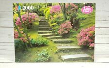Super Big Ben MB Puzzle 2000 Piece The Japanese Garden, Portland, OR. Vtg Rare