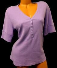 Nicole miller new york light purple button down v neck textured knit top XL