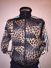 NEW Adidas Track Jacket Suit Mens Beckenbauer Leopard Cheetah RARE  sz M
